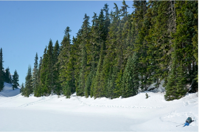 A hike to Lesser Garibaldi Lake in Garibaldi Provincial Park, Squamish-Lillooet Regional District, B.C. April 2, 2016. Photo credit: Stephen Hui. Copyright (c) 2016 Stephen Hui. stephenhui.net/