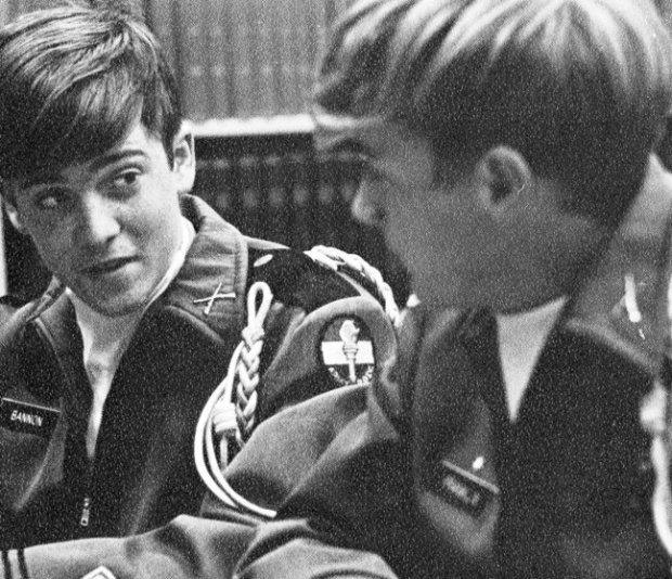 Steve Bannon Senior Year 1972 Benedictine High School, Richmond, VA Military Court; Steve is on the left Credit: Seth Poppel/Yearbook Library